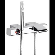 Kit bañera-ducha termostático repisa Thesis Roca
