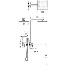 Conjunto de ducha 2 vías CUADRO-TRES