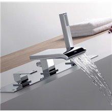 Combinación para bañera con cascada CUADRO-TRES