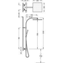 Columna de ducha termostática CUADRO-TRES