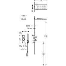 Kit de ducha termostático 2 vías Compact CUADRO-TRES