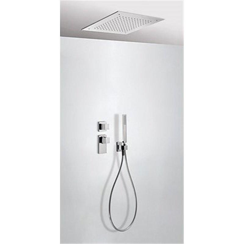 Kit de ducha termostático 2 vías Techo CUADRO-TRES