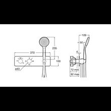 Grifo ducha termostático 3 vías desviador Puzzle Roca