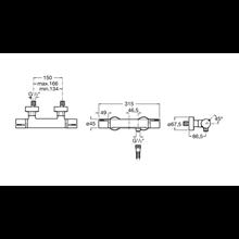 Grifo ducha termostático exterior T-1000 Roca