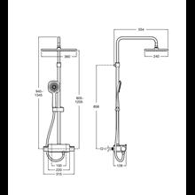 Columna ducha termostática Square Deck Roca