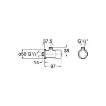Grifo temporizado paso angular Instant Roca