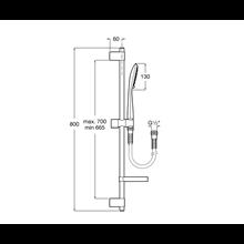 Kit de ducha Round barra 80cm 4 funciones...