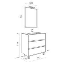 Mueble 80cm Blanco Brillo 3 cajones SALGAR ARENYS