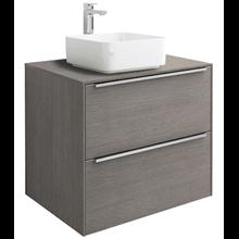 Mueble con lavabo 60cm roble sobrencimera Inspira Square Roca