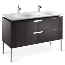Mueble 120cm gris y lavabo Kalahari Roca