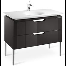 Mueble 100cm gris y lavabo Kalahari Roca