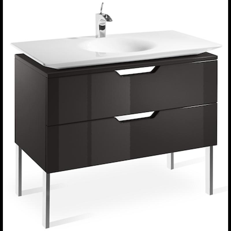 Mueble 100cm gris y lavabo Kalahari Roca  Materiales de Fábrica
