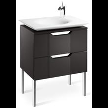 Mueble 80cm gris y lavabo Kalahari Roca