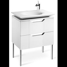Mueble 80cm blanco y lavabo Kalahari Roca