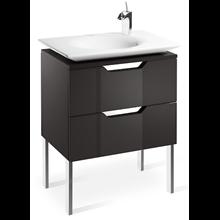 Mueble 65cm gris y lavabo Kalahari Roca