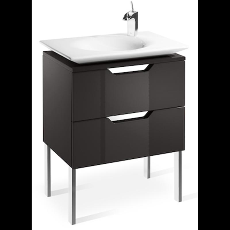 Mueble 65cm gris y lavabo Kalahari Roca  Materiales de Fábrica
