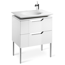 Mueble 65cm blanco y lavabo Kalahari Roca