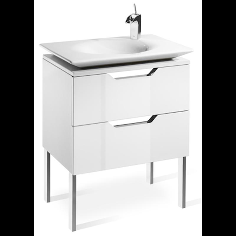 Mueble 65cm blanco y lavabo kalahari roca materiales de f brica - Mueble lavabo blanco ...