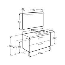 Pack mueble 110cm dos cajones gris antracita Prisma Roca