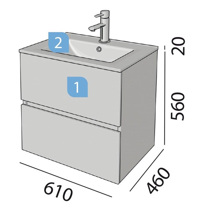 Conjunto ba o salgar fussion line 600 blanco brillo for Conjuntos de bano baratos