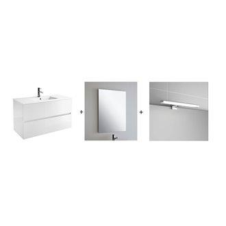 Conjunto baño SALGAR FUSSION LINE 600 Blanco Brillo
