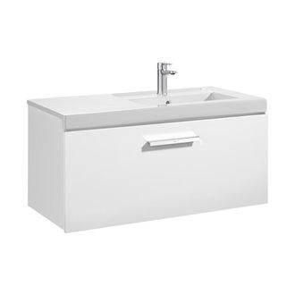 Mueble con lavabo un cajón blanco Prisma Roca