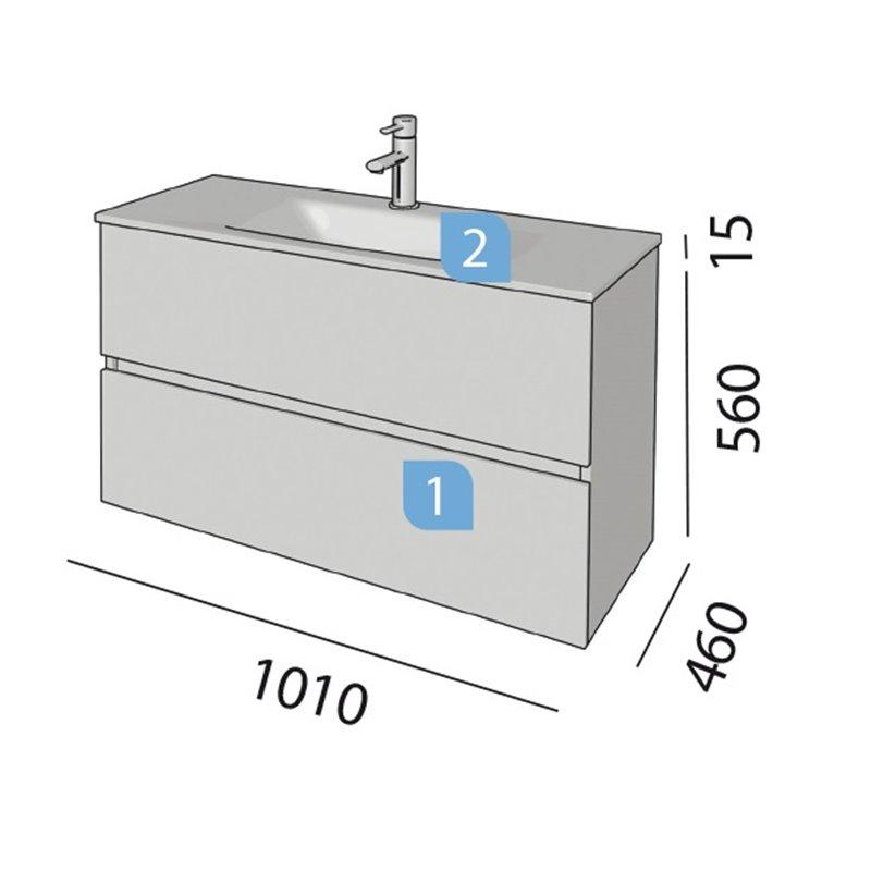 Conjunto ba o salgar fussion line 1000 blanco brillo for Conjuntos de bano baratos