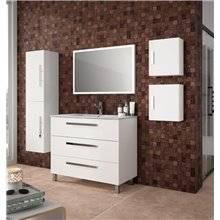 Mueble 100cm Blanco Brillo 3 cajones FUSSION CHROME SALGAR