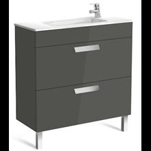 Mueble gris 80cm compacto 2 cajones Debba Roca