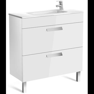 Mueble blanco 80cm compacto 2 cajones Debba Roca
