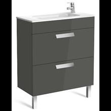 Mueble gris 70cm compacto 2 cajones Debba Roca