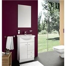 Mueble con lavabo integral Blanco PRAGA/NILO SALGAR