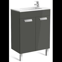 Mueble gris 60cm compacto con puertas Debba Roca