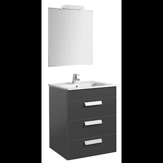 Pack mueble gris 60cm 3 cajones Debba Roca