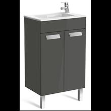 Mueble gris 50cm compacto con puertas Debba Roca