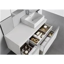 Mueble 80 cm blanco brillo Heima Roca