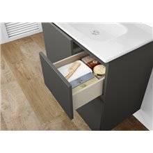 Pack mueble 60cm gris Anima Roca