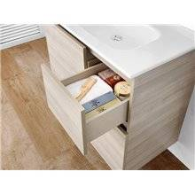 Pack mueble 60cm blanco Anima Roca