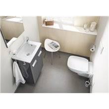 Mueble gris 80cm compacto con puertas Debba Roca