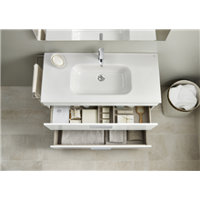 Mueble blanco 60cm compacto 2 cajones Debba Roca