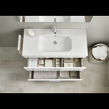 Pack mueble blanco 50cm compacto 2 cajones Debba Roca