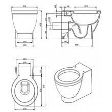 Inodoro cisterna alta NAU