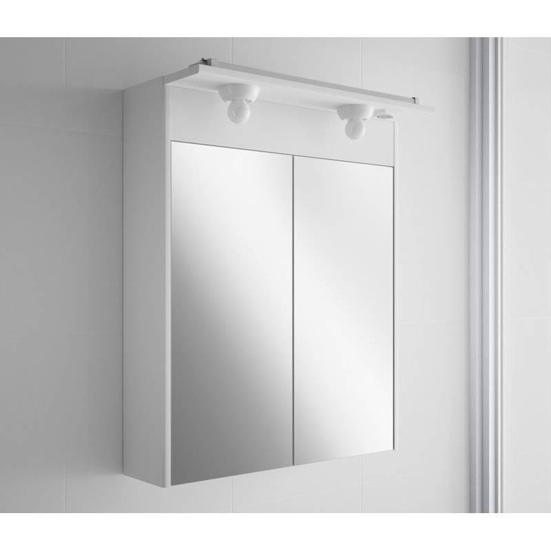 Armario blanco 65 cm 2 luces combi salgar materiales de for Armarios de bano salgar