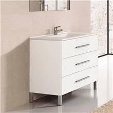 Mueble con lavabo Blanco brillo Ribera 60 TEGLER