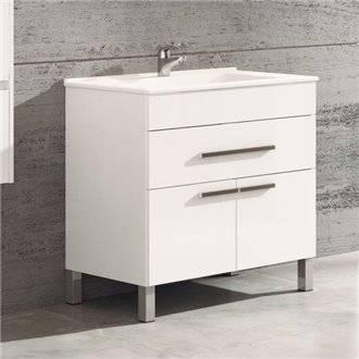 Mueble con lavabo Blanco brillo 60 Bahía TEGLER