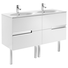 Mueble Unik OVAL blanco 120cm Victoria-N Roca