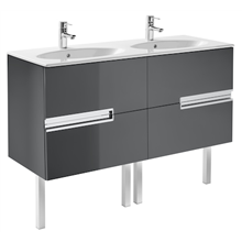 Mueble Unik OVAL gris 120cm Victoria-N Roca