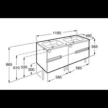 Mueble Unik OVAL wenge 120cm Victoria-N Roca