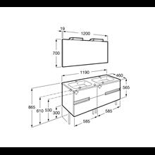 Mueble Pack OVAL wenge 120cm Victoria-N Roca