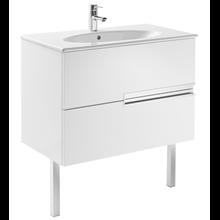 Mueble Unik OVAL blanco 80cm Victoria-N Roca